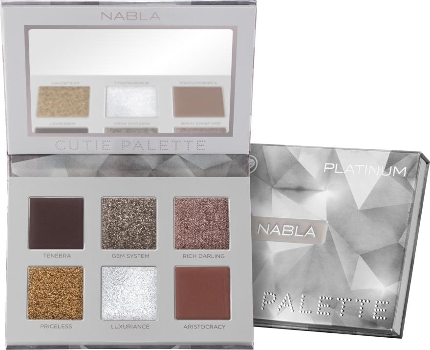 Szemhéjfesték paletta - Nabla Cutie Collection Palette Platinum