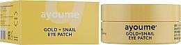 Parfüm, Parfüméria, kozmetikum Szem alatti tapasz csiganyállal - Ayoume Gold + Snail Eye Patch