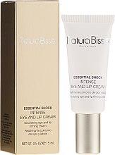 Parfüm, Parfüméria, kozmetikum Intenzív szemkörnyékápoló krém száraz bőrre - Natura Bisse Essential Shock Intense Eye and Lip Treatment SPF15