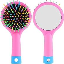 Parfüm, Parfüméria, kozmetikum Hajkefe tükörrel, rózsaszín - Twish Handy Hair Brush with Mirror Rose Pink
