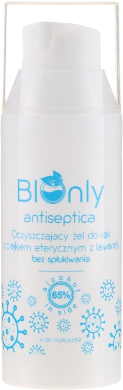 Kézfertőtlenítő gél levendula illóolajjal - BIOnly Antiseptica Antibacterial Gel