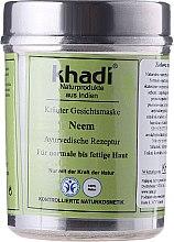 """Parfüm, Parfüméria, kozmetikum Növényi arcmaszk """"Neem"""" - Khadi"""