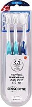 Parfüm, Parfüméria, kozmetikum Fogkefe készlet, puha világoskék + kék - Sensodyne Gentle Care Soft Toothbruhs