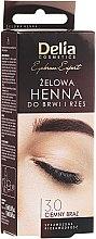 Parfüm, Parfüméria, kozmetikum Gél szemöldökfesték, sötétbarna - Delia Eyebrow Tint Gel ProColor 3.0 Dark Brown