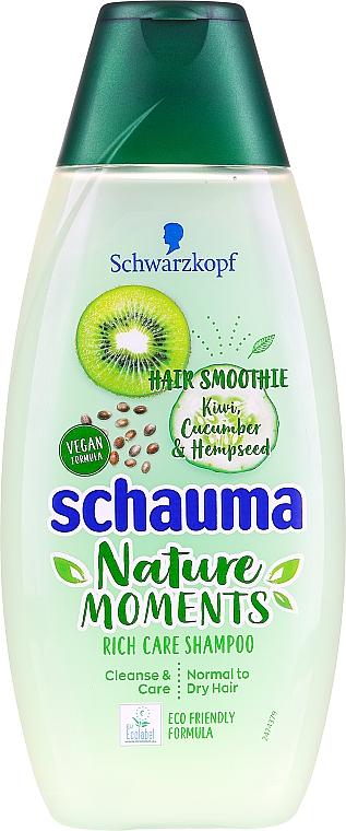 """Sampon normál és kissé száraz hajra """"Kivi és uborka"""" - Schauma Hair Smoothie Shampoo"""