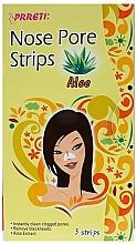 Parfüm, Parfüméria, kozmetikum Pórustisztító orrtapasz - Prreti Nose Pore Strips Aloe