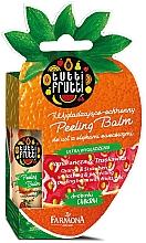 """Parfüm, Parfüméria, kozmetikum Ajakbalzsam """"Narancs és eper"""" - Farmona Tutti Frutti Peeling Lip Balm Orange & Strawberry"""