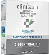 Parfüm, Parfüméria, kozmetikum Kopaszodás elleni komplexum természetes hajra - Joico Cliniscalp 3-step Trial Kit For Natural Hair Early Stages (shmp/100ml + cond/100ml + treat/50ml)