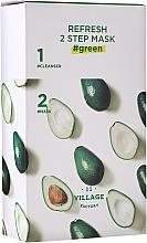 Parfüm, Parfüméria, kozmetikum Kétfázisú avokádó maszk - Village 11 Factory Refresh 2-Step Mask Green