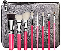 Parfüm, Parfüméria, kozmetikum Sminkecset készlet neszeszerben - ZOEVA Pink Elements Classic Set (8 brushes + clutch)