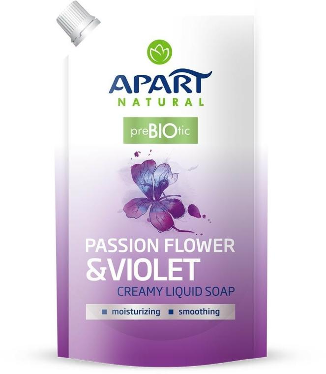 """Folyékony krémes szappan """"Passion Flower & Violet"""" - Apart Natural Passion Flower & Violet Soap (utántöltő)"""