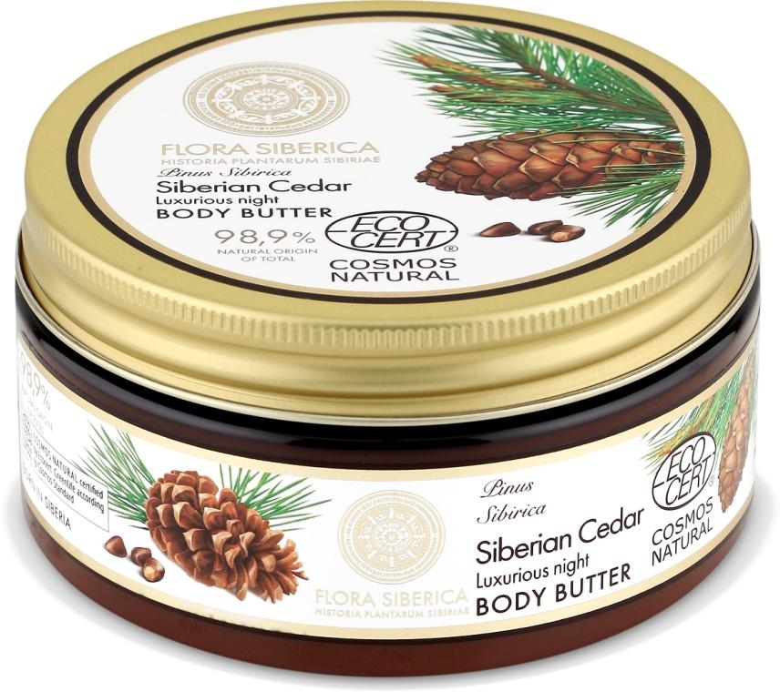 Éjszakai testápoló vaj - Natura Siberica Flora Siberica Siberian Cedar Luxurious Night Body Butter