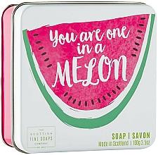 """Parfüm, Parfüméria, kozmetikum Testszappan fém dobozban """"Dinnye"""" - Scottish Fine Soap in a Tin Fruits Melon Soap"""