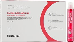 Parfüm, Parfüméria, kozmetikum Hidratáló filler ceramidokkal hajra - FarmStay Ceramide Damage Clinic Hair Filler