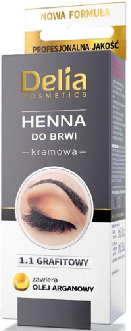 Krémes henna szemöldökfesték, grafit - Delia Brow Dye Graphite Henna Cream