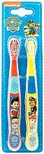 Parfüm, Parfüméria, kozmetikum Fogkefe szett, lágy, piros-sárga - Nickelodeon Paw Patrol (toothbrush/2szt)