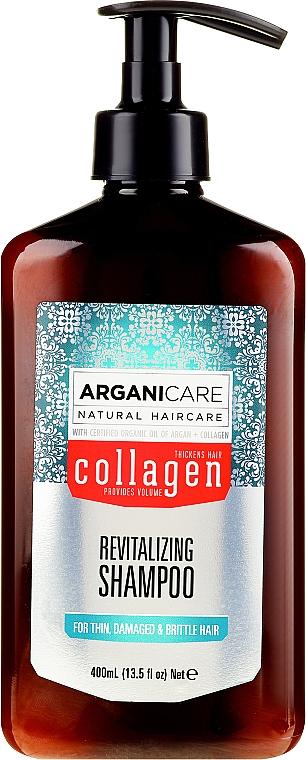 Kollagén sampon porózus és gyengült hajra - Arganicare Collagen Revitalizing Shampoo