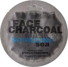 """Parfüm, Parfüméria, kozmetikum Arcmaszk """"Bambuszszén és spirulina"""" - Cafe Mimi Charkoal & Spirulina Sea Face Mask"""