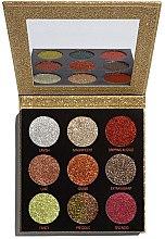 Parfüm, Parfüméria, kozmetikum Csillogó szemhéjfesték paletta - Makeup Revolution Pressed Glitter Palette Midas Touch