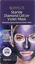 Parfüm, Parfüméria, kozmetikum Hámlasztó arcmaszk a csillogó bőrért - Skinlite Starkle Diamond Glitter Violet Mask