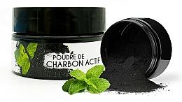 "Parfüm, Parfüméria, kozmetikum Fehérítő por ""Menta"" - Keeth Mint-flavoured Activated Charcoal Bleaching Powder"