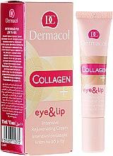 Parfüm, Parfüméria, kozmetikum Fiatalító krém szemre és szájra - Dermacol Collagen+ Eye & Lip Cream