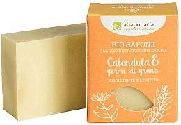 Parfüm, Parfüméria, kozmetikum Bio szappan kéri körömvirág és búzacsíra kivonattal - La Saponaria Calendula & Wheat Germ Soap