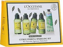Parfüm, Parfüméria, kozmetikum Szett - L'Occitane Citrus Verbena Sparkling Set (show/gel/50ml + shm/50ml + cond/50ml + b/milk/50 ml + h/cr-gel/30 ml)
