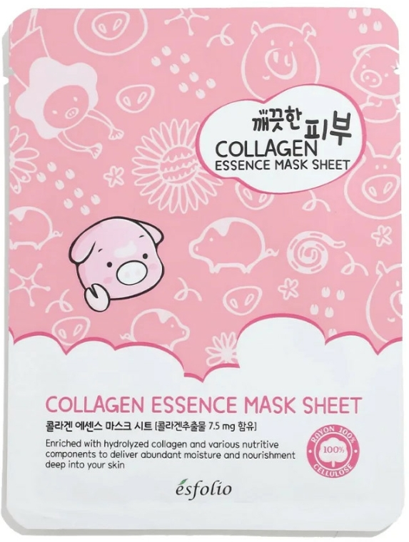 Anyagmaszk kollagénnel - Esfolio Pure Skin Colagen Essence Mask Sheet