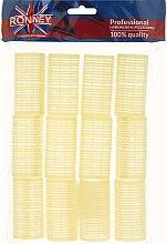 Parfüm, Parfüméria, kozmetikum Öntapadós hajcsavaró 32/63, sárga - Ronney Professional Velcro Roller