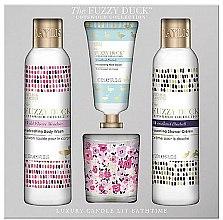Parfüm, Parfüméria, kozmetikum Szett - Baylis & Harding The Fuzzy Duck Cotswold Floral Candle Set (sh/gel/250ml + b/lot/250ml + h/cr/30ml + candle/60g)