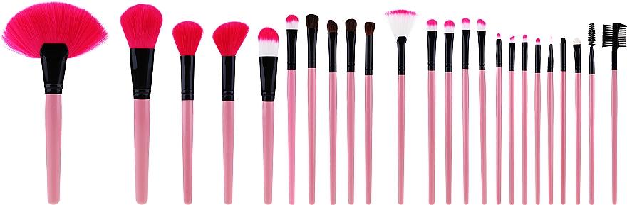 Professzionális sminkecset szett 24 db, rózsaszín - Tools For Beauty