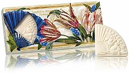 "Parfüm, Parfüméria, kozmetikum Természetes szappan szett ""Virágos csokor"" - Saponificio Artigianale Fiorentino Floral Bouquet Soap (3xsoap/100g)"