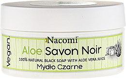 """Parfüm, Parfüméria, kozmetikum Fekete szappan """"Aloe vera"""" - Nacomi Savon Noir Natural Black Soap with Aloe Vera Juice"""