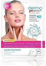 "Parfüm, Parfüméria, kozmetikum Arcmaszk ""Akne gyógyító"" - Dermo Pharma Skin Repair Expert Cleansing Anti Acne Mask 4D"