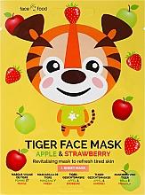 """Parfüm, Parfüméria, kozmetikum Anyagmaszk arcra """"Tigris"""" alma és eper kivonattal - 7th Heaven Face Food Tiger Face Mask Apple & Strawberry"""