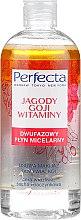 """Parfüm, Parfüméria, kozmetikum Kétfázisú micellás víz arcra """"Godji bogyók és vitaminok"""" - Perfecta"""