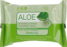 Parfüm, Parfüméria, kozmetikum Tisztító törlőkendő aloe kivonattal - FarmStay Aloe Moisture Soothing Cleansing Tissue