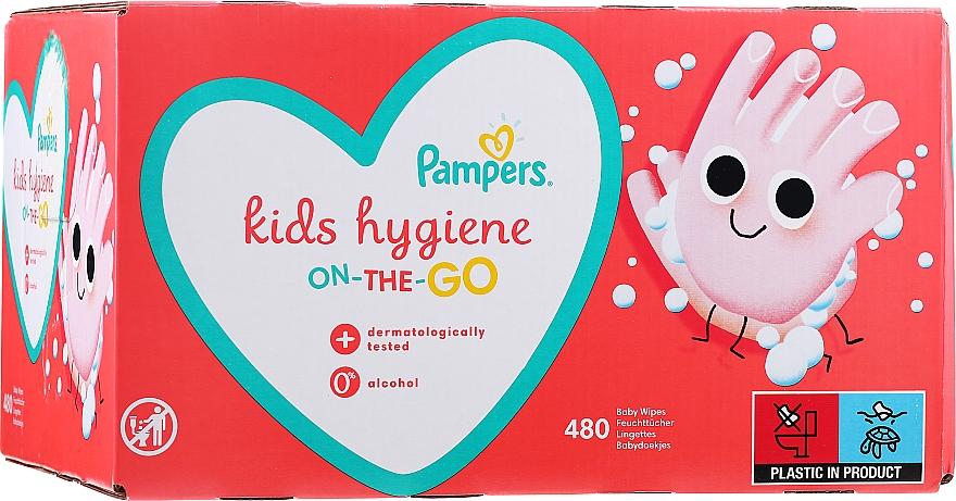 Gyerek nedves törlőkendő, 12x40 db - Pampers Kids On The Go