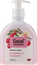 "Parfüm, Parfüméria, kozmetikum Krém-szappan ""Málna desszert"" - Seal Cosmetics Cream Soap"