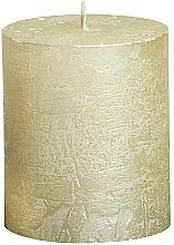 Parfüm, Parfüméria, kozmetikum Henger alakú gyertya Metallic Ivory, 80/68 mm - Bolsius Candle