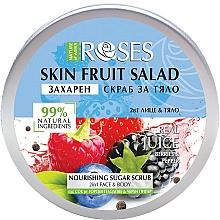 """Parfüm, Parfüméria, kozmetikum Arc-és testradír """"Bogyók és fekete bors"""" - Nature of Agiva Roses Body Fruit Salad Nourishing Sugar Scrub"""