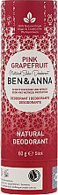 """Parfüm, Parfüméria, kozmetikum Szóda alapú dezodor """"Rózsaszín grapefruit"""" (karton) - Ben & Anna Natural Soda Deodorant Paper Tube Pink Grapefruit"""