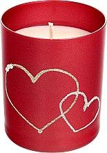 Parfüm, Parfüméria, kozmetikum Díszgyertya, piros, 8x9,5 cm - Artman Forever Glass