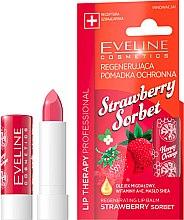 "Parfüm, Parfüméria, kozmetikum Ajakbalzsam ""Eper szörp"" - Eveline Cosmetics Lip Therapy Proffesional Regenearting Lip Balm Strawberry Sorbet"