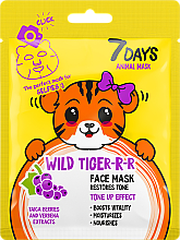 Parfüm, Parfüméria, kozmetikum Arcmaszk - 7 Days Animal Wild Tiger-r-r Face Mask