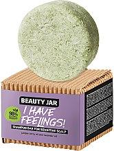 Parfüm, Parfüméria, kozmetikum Szilárd sampon érzékeny fejbőrre borókaolajjal és levendulával - Beauty Jar I Have Feelings