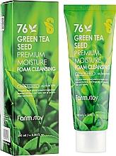 Parfüm, Parfüméria, kozmetikum Arctisztító hab züéd teával - FarmStay Green Tea Seed Premium Moisture Foam Cleansing