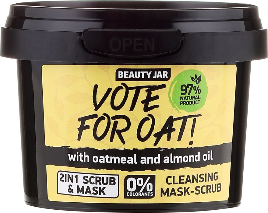 Arctisztító radírozó maszk - Beauty Jar Vote For Oat! Cleansing Mask-Scrub