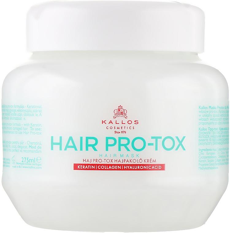 Hajmaszk keratinnal, kollagénnel és hialuronsavval - Kallos Cosmetics Pro-Tox Hair Mask